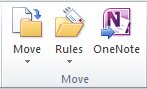 Rules can be found in the Move area of Outlook