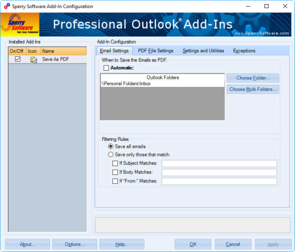 how to convert outlook email folder into single pdf document