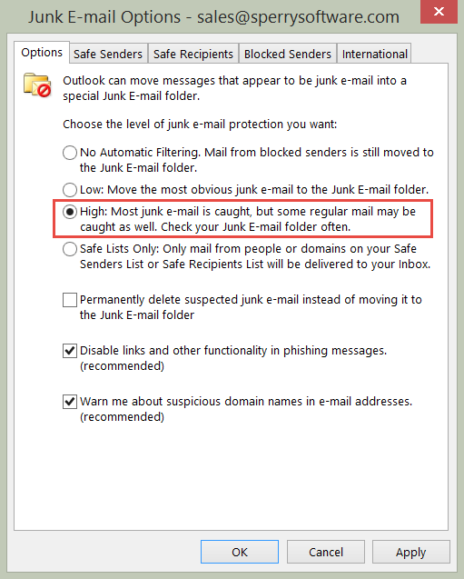 How We Deal With Junk Mail - Sperry Software