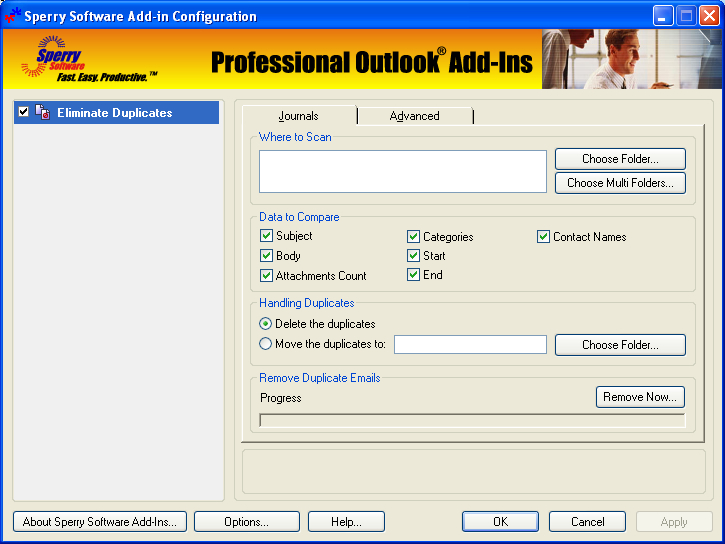 Windows 7 Duplicate Journals Eliminator for Outlook 2000, 2002, 2003 4.0.4050.20832 full