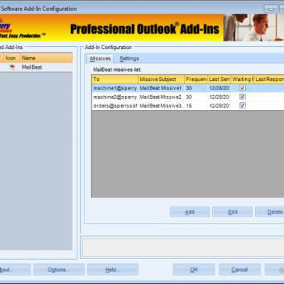 MailBeat Typical Configuration screenshot