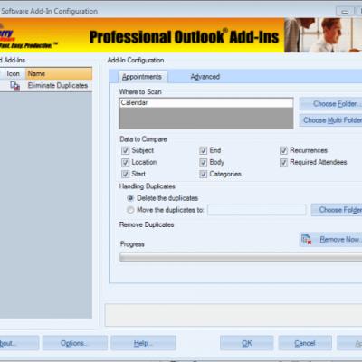 Duplicate Appointments Eliminator screenshot