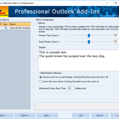 Outlook Zoom Email Window screenshot