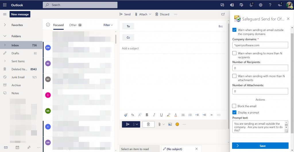 Outlook add-in task pane