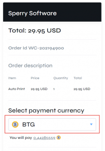 Paying with Now Payments crypto